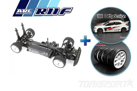 ARC R11F Fronti Chassis Kit + Bittydesign HC-F Clear Body + Ride 26072