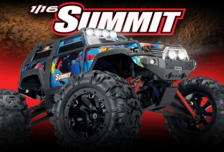 Traxxas Summit 1/16 4wd - Med lys